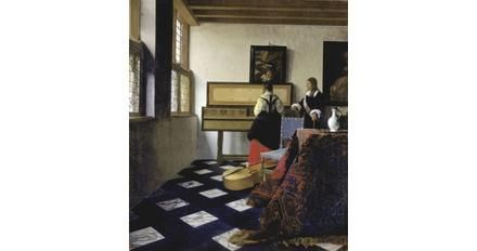 Vermeer, A Lady at the Virginal with a Gentleman.  The Royal Collection