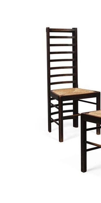 Two chairs from set of six by Charles Rennie Mackintosh sold for £13,200 in March, but two more have just sold for £109,000.