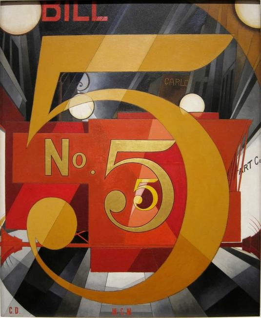 Charles Demuth's I Saw the Figure 5 in Gold.  Photograph: © Metropolitan Museum of Art, New York