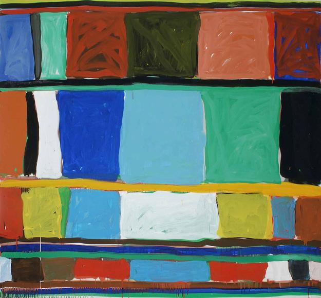 "Stanley Whitney, American, born 1946; ""Out into the Open"", 1992; (unframed) acrylic on canvas; unframed: 53 1/2 × 60 inches; Saint Louis Art Museum, The Thelma and Bert Ollie Memorial Collection E14521.79 © Stanley Whitney"