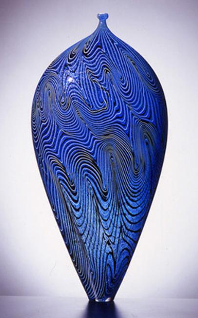A Lino Tagliapietra glass work – Atlantis - that sold for $43,000 from the booth of Schantz Galleries.