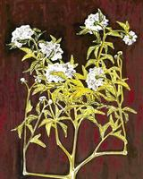 """Potted Chrysanthemum in a Blue and White Jardiniere,"" an oil painting by Chinese artist Sanyu, fetched a record $6.9 million at Christie's."