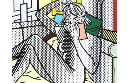 "This extraordinary print by Roy Lichtenstein (American, 1923-1997) titled, ""Nude Reading,"" will be offered for $80,000 to $120,000."