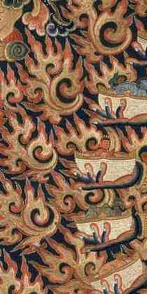 "In ""Faith and Empire,"" Hevajra (central detail); China; Ming dynasty, Yongle Period, ca.  1417–1423; silk embroidery; 81 x 131 cm; Pritzker Collection"
