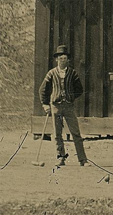 The Billy the Kid Croquet Match Tintype (DETAIL)