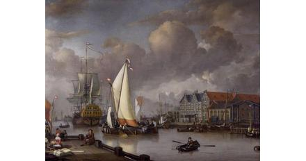 Jan Claesz Rietschoof's 'View of Oostereiland', one of the paintings stolen from the Westfries Museum