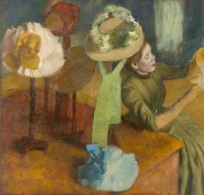 Edgar Degas, French, 1834-1917; The Millinery Shop, 1879-1886; oil on canvas; 39 3/8 x 49 9/16 inches; The Art Institute of Chicago, Mr.  and Mrs.  Lewis Larned Coburn Memorial Collection