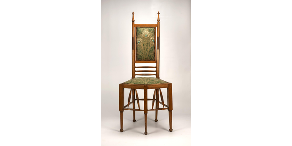 Aesthetic Side Chair, early - mid 1880s, design attributed to Christopher Dresser (1834 – 1904).  Wood and upholstery.  Collection Kirkland Museum of Fine & Decorative Art, Denver.