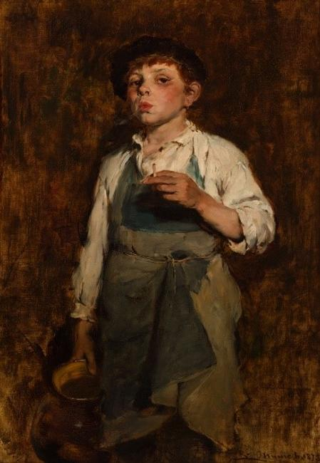 Frank Duveneck (1848–1919), United States, He Lives by His Wits, 1878, oil on canvas, Collection of Gates Thornton Richards and Margaret Kyte Richards