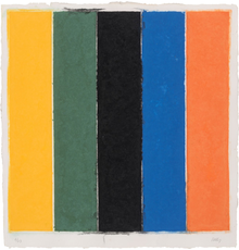 Ellsworth Kelly (1923-2015), Colored Paper Image XIII, Colored and pressed paper pulp, 1976.  Est.  $30,000-40,000.  Lot 89.