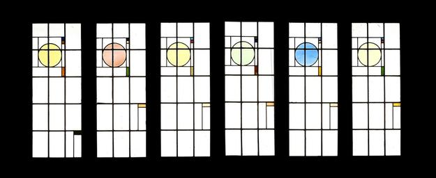 George Grant Elmslie (1871-1952) Six Leaded Glass Windows for the Henry B.  Babson House, circa 1907 (estimate: $ 15,000 - 20,000)