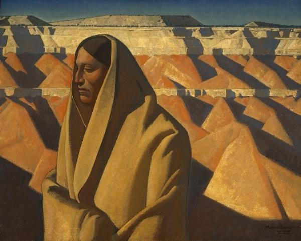 Maynard Dixon, Earth Knower, 1934, oil on canvas; collection of the Oakland Museum of California.  Gift of Dr.  Abilio Reis.