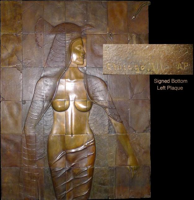 This bronze depiction of an Egyptian princess, cast in 42 plaques (or tiles) is museum-quality and will be sold to the highest bidder on April 4th,