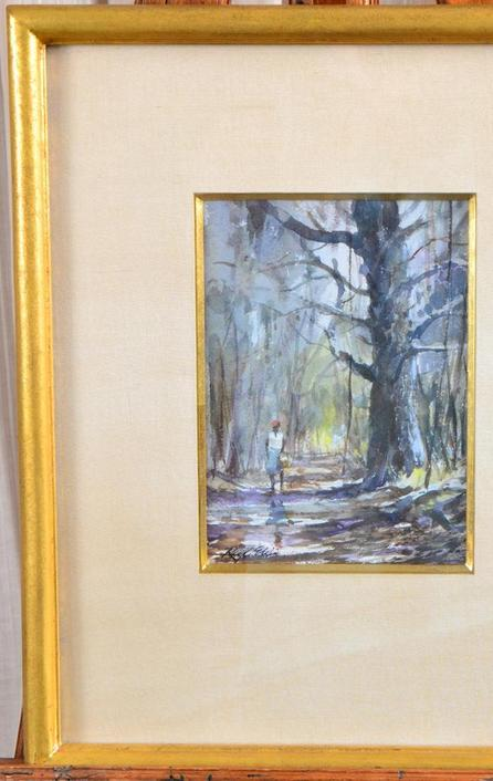 This watercolor painting by Ray Ellis (Am., 1921-2013), titled Daufuskie Lane, will be auctioned October 29th in Panama City, Fla.