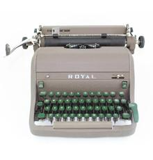 Ernest Hemingway's 1950s-era Royal manual typewriter, used to write the memoir A Moveable Feast.  Included is a letter of authenticity signed in 2019 by Hotchner (est.  $50,000-$100,000).