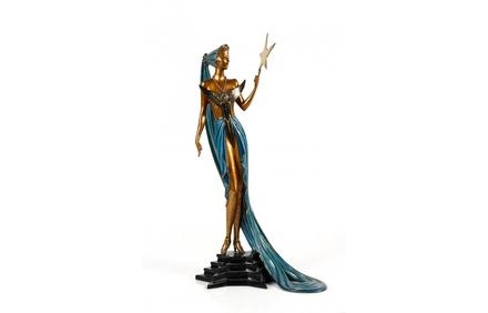 This bronze statue by Erte, titled Astra, will be sold at auction Sunday, June 28th, by Ahlers & Ogletree in Atlanta.
