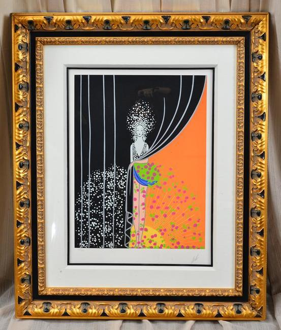 Erte limited edition serigraph titled Printemps (est.  $500-$1,000).