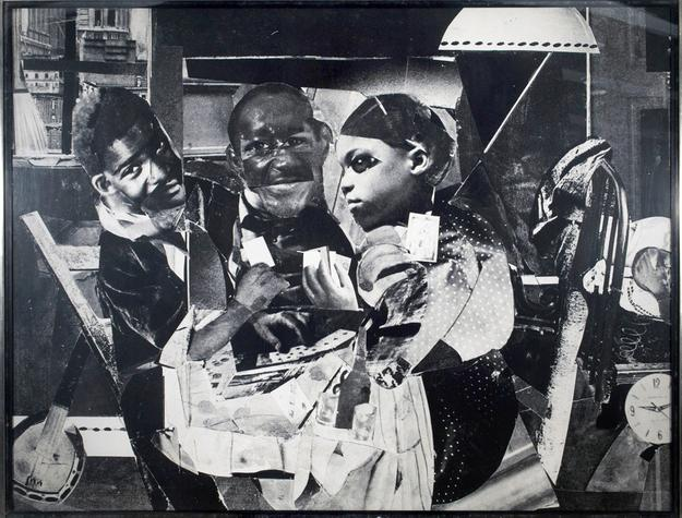 From DC Moore Gallery, Romare Bearden, Evening 9:10 461, Lenox Avenue, 1964.