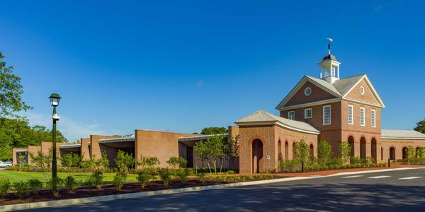 The new exterior of the Art Museums of Colonial Williamsburg.