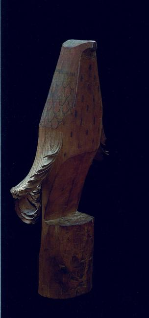 SASANO TAKA carved wood-13 in.high Edo period-19 century