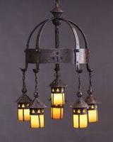 Gustav Stickley, Five Light Electrolier, no 233, c.  1904