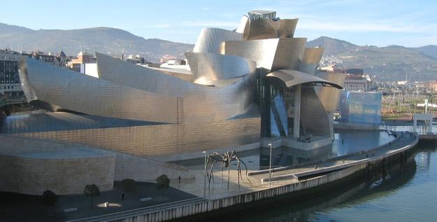 The Guggenheim Museum in Bilbao, Spain, designed by Gehry.