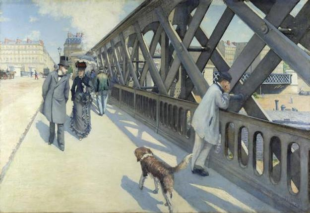 Gustave Caillebotte: Le Pont de l'Europe, 1876; oil on canvas; 49 x 71 in.; collection of the Association des Amis du Petit Palais, Geneva.  © Rheinisches Bildarchiv Köln, Michael Albers.