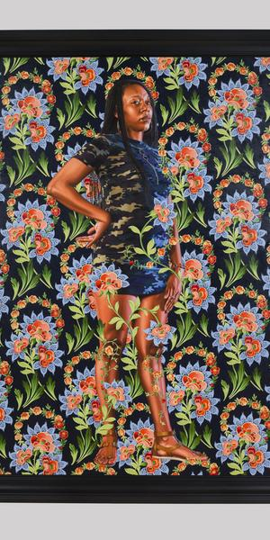 "Kehinde Wiley, American, born 1977; ""Charles I"", 2018; oil on linen; 96 x 72 in."