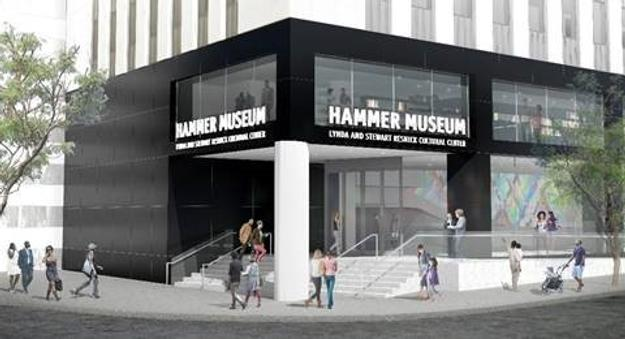 Preliminary rendering of the Hammer's new corner entrance at Wilshire and Westwood, courtesy Michael Maltzan Architecture