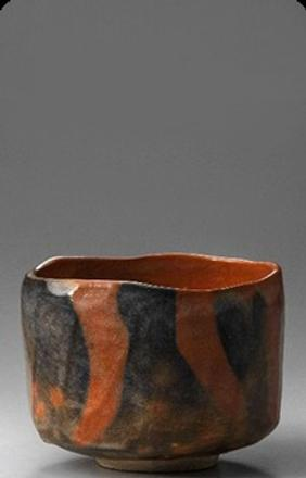 Kakunyū (Raku XIV), Japan, 1918-1980, Tea Bowl named 'Juei', 1975, Red Raku ware; glazed ceramic, 3 7/8 x 4 5/8 x 4 5/8 in.  (9.7 x 11.7 cm), Raku Museum, Photo: Takashi Hatakeyama