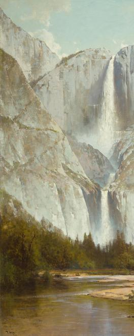 Thomas Hill, Yosemite Falls, 1884.  Oil on canvas, 53 1/2 x 35 1/4 in.