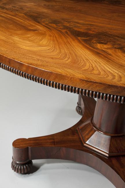 A Regency period centre table, circa 1810.  Courtesy of William Cook.