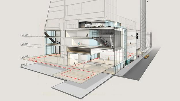 Rendering for the expanded MoMA