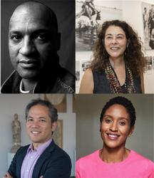 Clockwise from top left: Mark Sealy, courtesy of Steve Pyke; Ilisa Barbash, courtesy of Chris Snibe / Harvard Gazette; Makeda Best, courtesy of Unique Nicole; and David Odo, courtesy of Matthew Monteith.