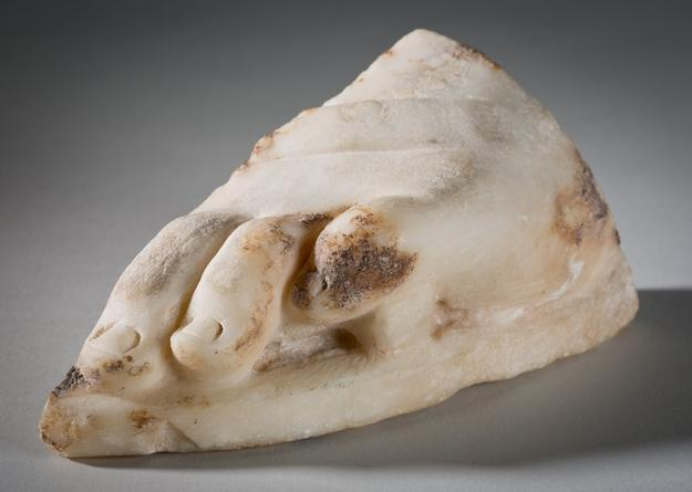 Greek, Fragment of Foot, 4th century.  Marble, Gift of Harriet W.  Allen (Class of 1924) 1952.9.b.  Guggenbichler, Johann Meinrad (Austrian) (b.  1649, Einsiedeln, Switzerland – d.  1723, Mondsee, Austria), Angel (from the Parish Church of St.  Wolfgang, Austria), 1706 Polychromed wood with and gilding overall: 15 7/8 in.  x 7 1/4 in.  (40.3 cm x 18.4 cm) Gift of Professor and Mrs.  John McAndrew 1956.25