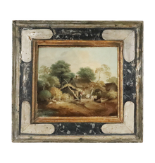 Oil on canvas painting attributed to Thomas Gainsborough (English, 1727-1788), titled The Market Cart (est.  $30,000-$50,000).