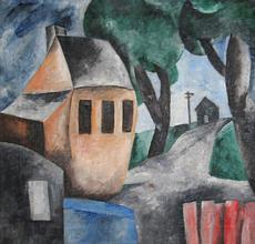 Karl Gasslander, Provincetown Road, c.1935, Oil on canvas, 18-1/4 x 22-1/8 inches