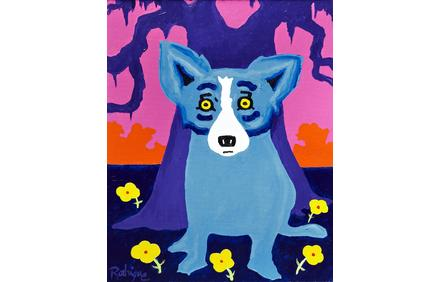 Acrylic on canvas by George Rodrigue (New Orleans, 1944-2013), titled Springtime in Louisiana (est.  $30,000-$40,000).