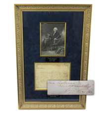 One-page letter signed by George Washington just a few months prior to his retirement from his second presidential term, on Oct.  12, 1796 (est.  $13,000-$14,000).