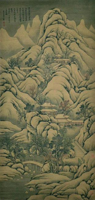 Mountain Temple by Wang Hui.  Lot 192.  Gianguan Auctions, September 9.