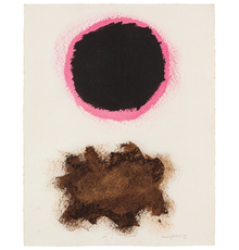 Acrylic on paper by Adolph Gottlieb (American, 1903-1974), Untitled, #30 (1970), signed, dated and numbered, 23 ¾ inches by 18 ¾ inches (est.  $80,000-$120,000).
