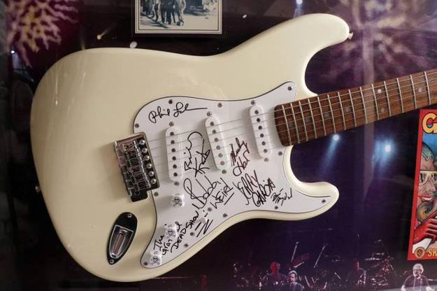 Electric guitar signed by original members of the legendary rock group The Grateful Dead, to include their late frontman Jerry Garcia.