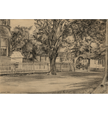 Edward Hopper (1882-1967), Cherry Tree, Charcoal on paper, 10 x 14 inches.  Est.  $60,000-90,000.  Lot 97.