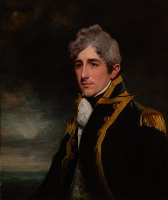 John Hoppner (British, 1758-1810), Portrait of Rear Admiral John Sprat Rainier in Naval Uniform, The Estate of A.  Edward Allinson, Palm Beach.  Est.  $8,000-15,000.  Lot 66.