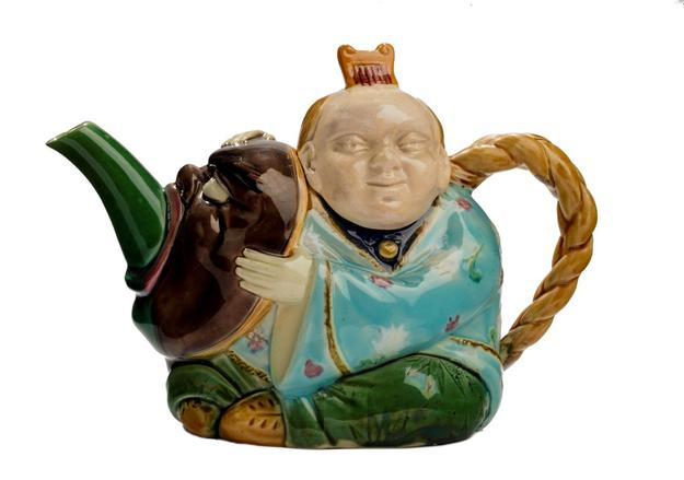 Minton majolica teapot, c1873 from Duveen Art & Antiques