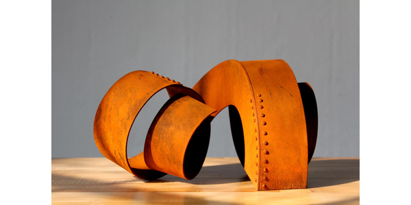 Hoss Haley, Architectural Coil Maquette, 2011.  Steel 8 x 10 x 15 in.  Courtesy of the artist.