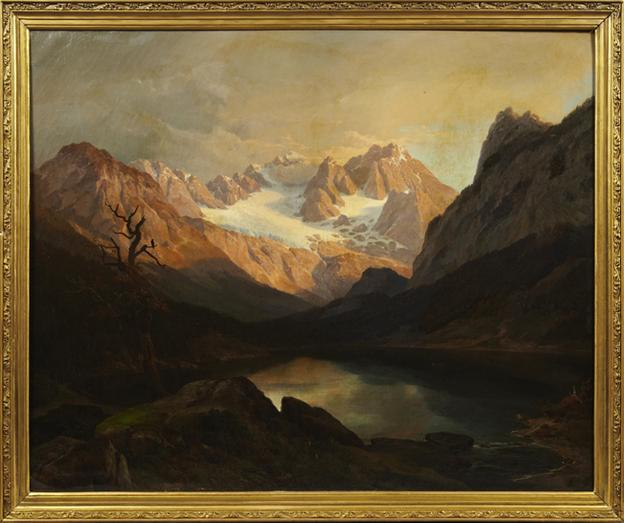 This original oil painting by the German painter Hans Heinrich Brandes is expected to sell for $2,000-$4,000.