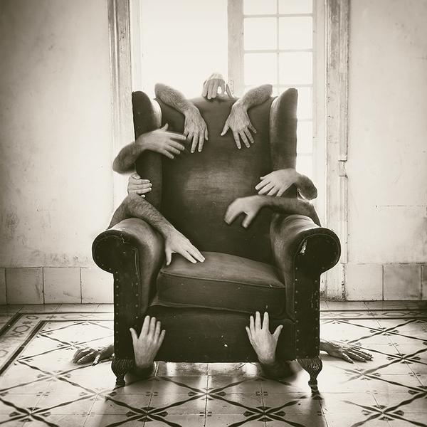 Harold Ferrer, Armchair, Digital on Hahnemühle Paper, 16'' x 16''