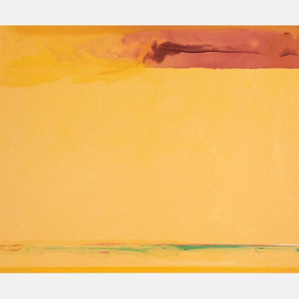 "Screen print in colors on wove paper by Helen Frankenthaler (American, 1928-2011) titled Southern Exposure (2005), framed, signed, numbered (#9/128"") and dated (""'05"") (est.  $7,000-$9,000)."