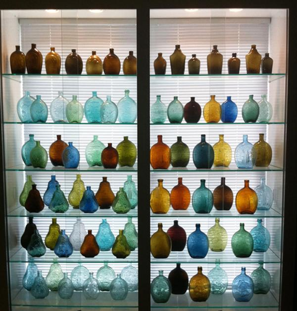 Historical flasks tell an important story about our past using blown glass.  Many commemorate historic events or people.